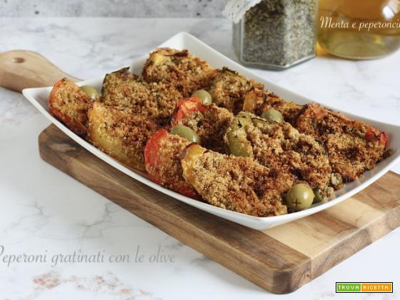Peperoni gratinati con le olive