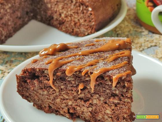 Torta Proteica e Senza Zucchero Avena Carrube Burro di Arachidi