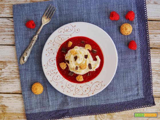 """""""Dolci in Pasta"""": Troccoli al mascarpone su riduzione di lamponi"""