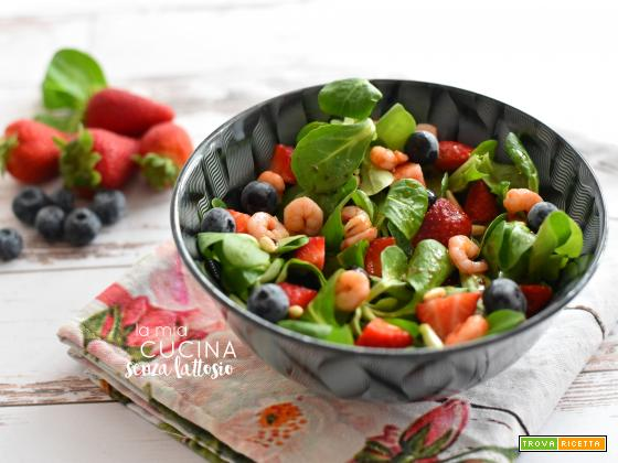 Insalata gamberetti e fragole