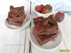 Brownies al cioccolato con fragole