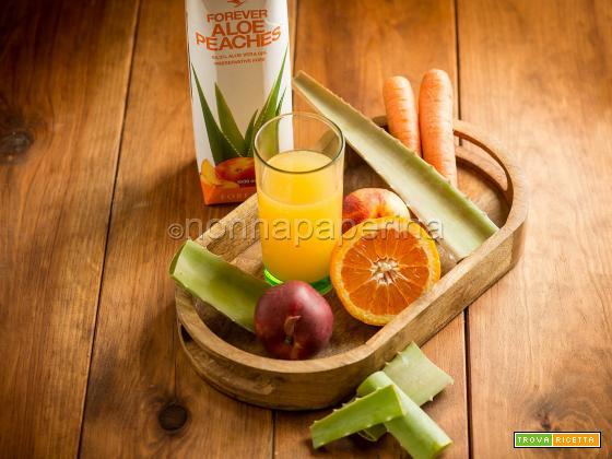 Succo con aloe carote e arance, una bevanda ottima