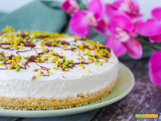 Cheesecake pistacchio e nutella