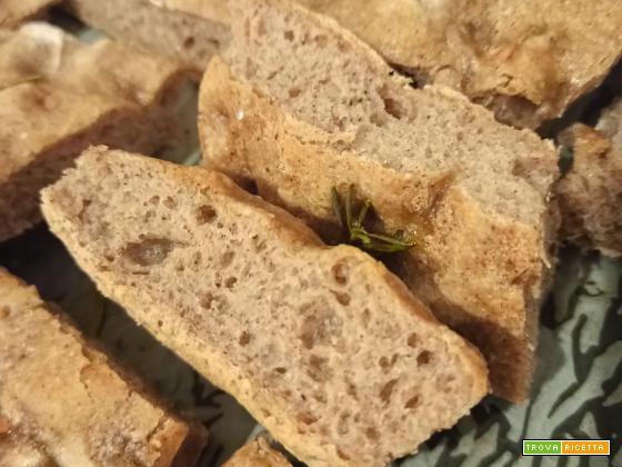 Focaccia con farina di semi d'uva
