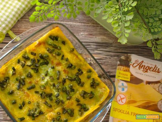 Lasagna agli asparagi senza glutine