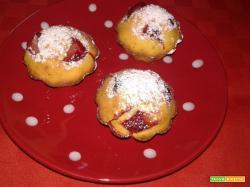 Mini muffin alle fragole senza glutine