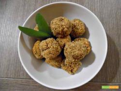 Polpette di quinoa e lenticchie senza glutine