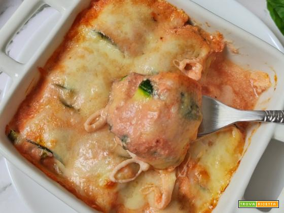 Mini Cannelloni di Zucchine e Ricotta Keto Low Carb Proteici