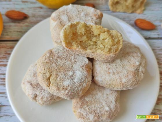 Biscotti Morbidi Mandorle e Limone Keto 4 IngredientiSenza Farina