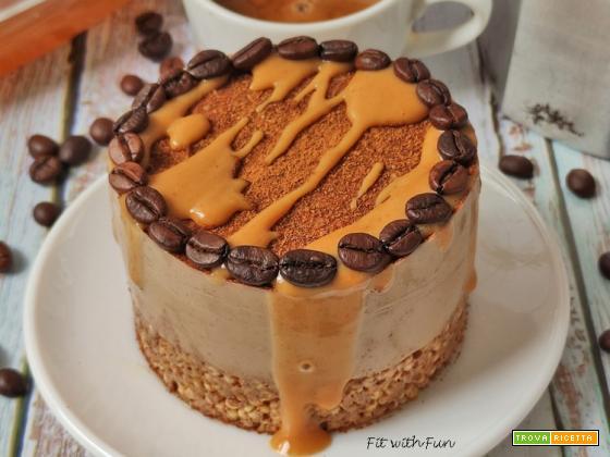 Cheesecake Caffè e Caramello Fit Proteica e Senza Glutine