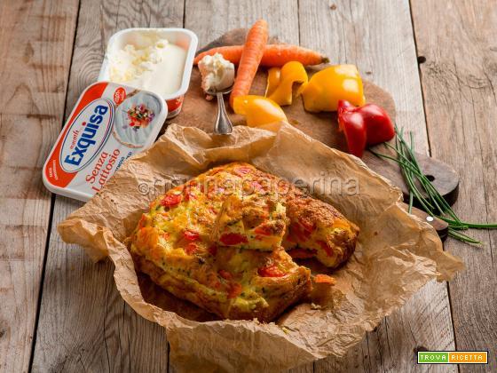 Frittata con peperoni e carote, un contorno gustoso