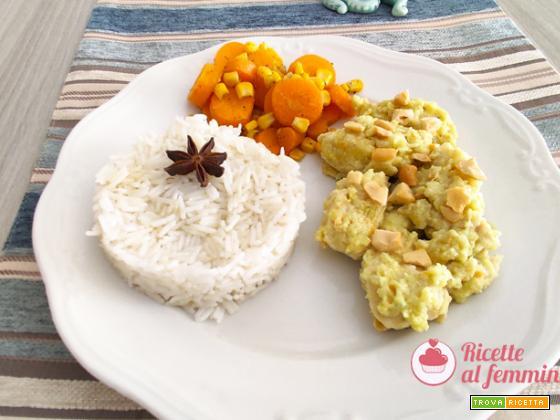 Pollo al latte di cocco e riso pilaf