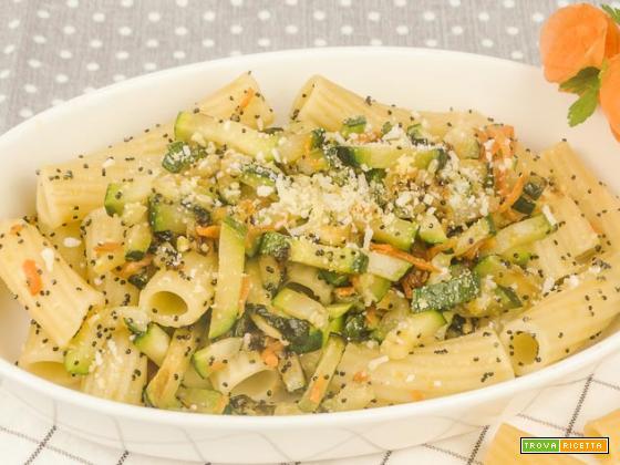 Pasta zucchine e carote light