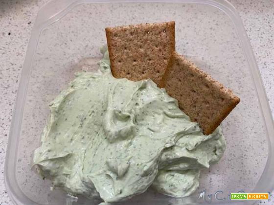 Crema ricotta, basilico ed erba cipollina