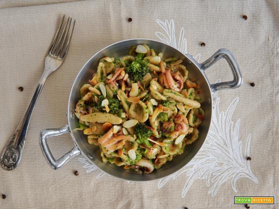 Maritati integrali con moscardini e broccoli