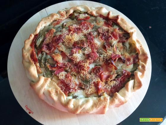 Torta salata con carciofi e speck