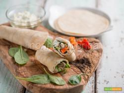 Tortillas wrap con spinaci e tacchino, un'ottima variante