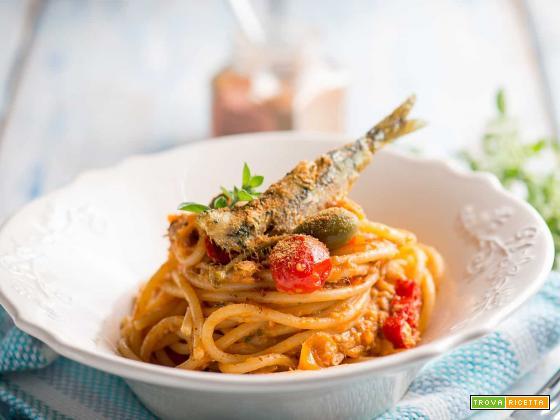 Spaghetti con sarde e bottarga, un primo che sa di mare