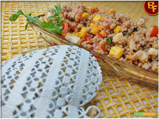 Insalata di Cous cous con verdure e provola