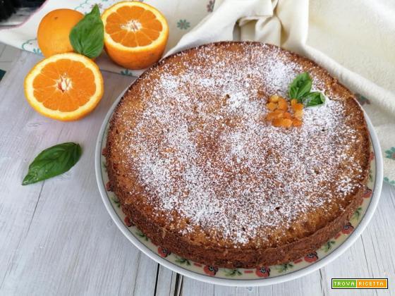 Torta caprese all'arancia senza glutine