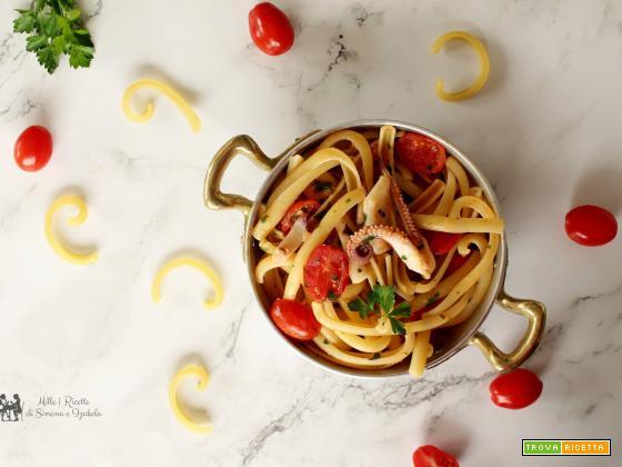 Spaccatelle con calamari e pomodorino