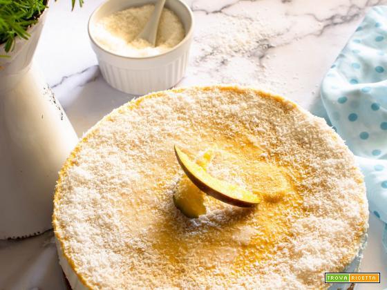 Torta gelato extra cocco con sorbetto al mango