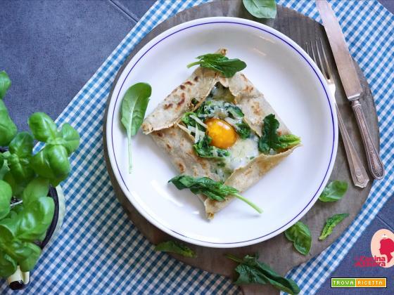 Galette con Spinaci di Nanni, gruyere e uovo