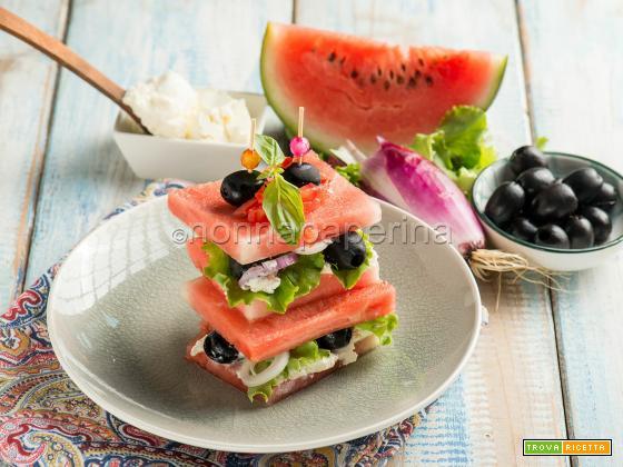 Sandwich di anguria, uno snack tra il dolce e il salato