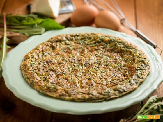 Frittata di cicoria selvatica, una piatto semplice