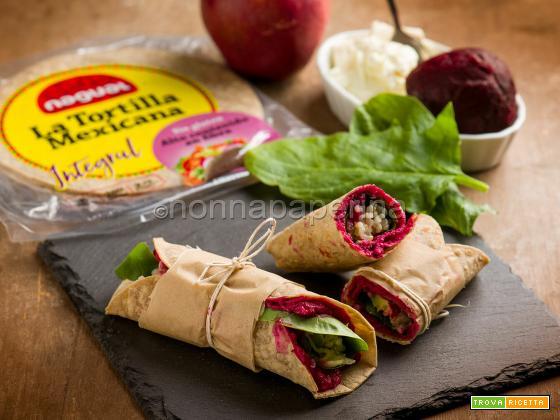 Wraps con barbabietole e formaggio, un piatto insolito