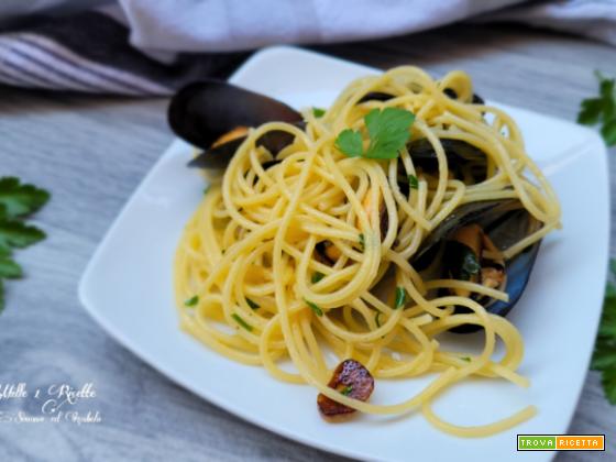 Spaghetti aglio olio e cozze