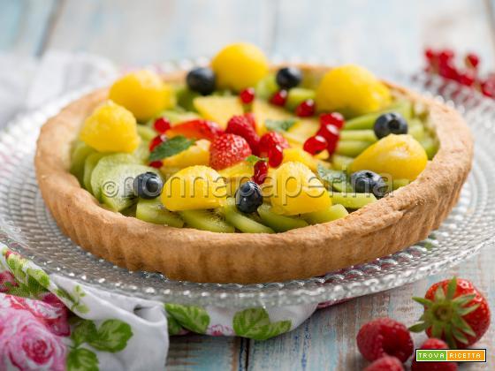 Crostata con anguria gialla, un tripudio di colori