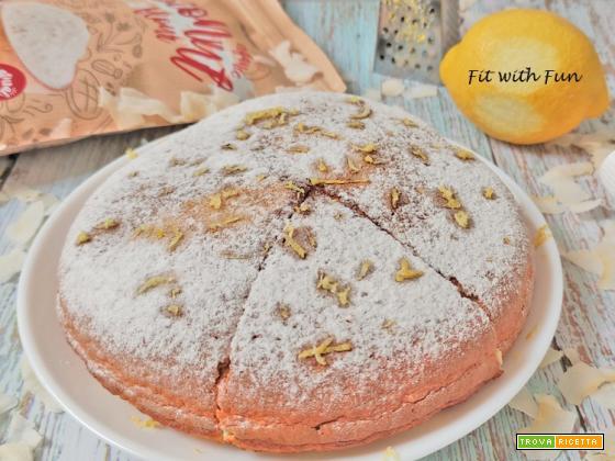 Torta Tripudio di Cocco e Limone in Padella Senza Zucchero