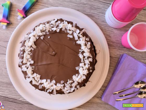 Torta fresca al cocco e cioccolato