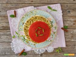 Cheesecake con base di tarallo e gelo di anguria
