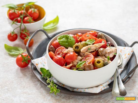 Insalata di tonno e pomodori alla eoliana