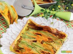 Pizza di Pastella con Fiori di Zucca (versione morbida)