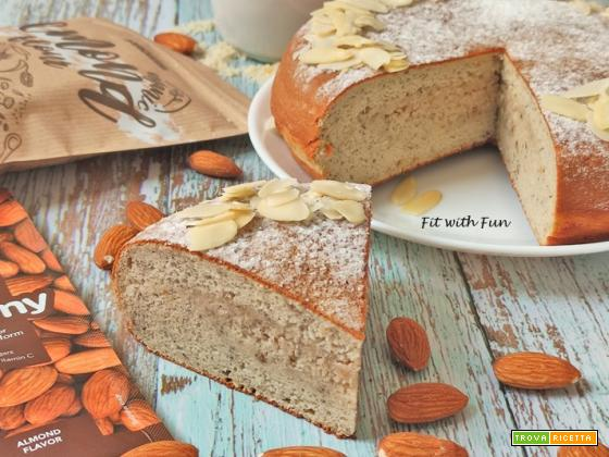 Torta in Padella Mandorle e Riso Proteica Senza Zucchero né Glutine