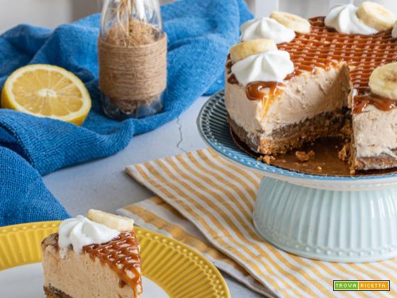 Banoffee cheesecake, il dolce senza cottura