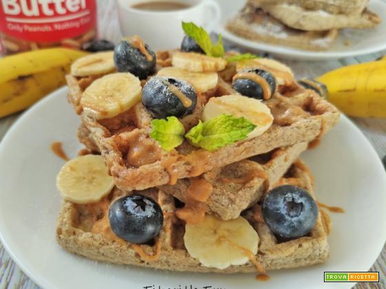 Banana Waffles 4 Ingredienti Senza Zucchero né Lattosio