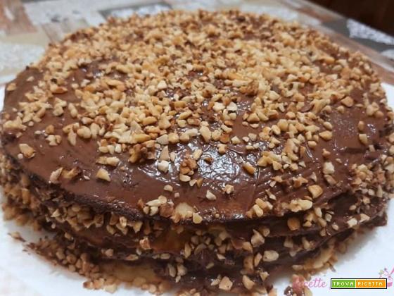 Torta pancake alla nutella