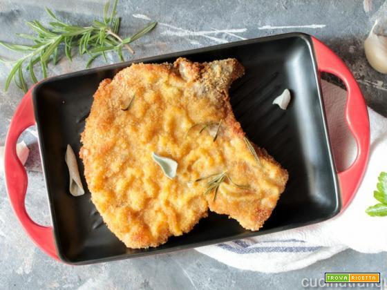 Bistecche di maiale panate
