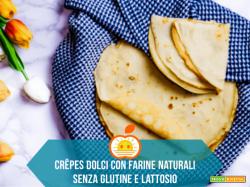 Crêpes dolci con farine naturali senza glutine (3 versioni)