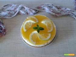 Crostata fredda allo yogurt e limone