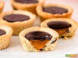 Vegan Cookie Cups   Biscotti ripieni al cioccolato