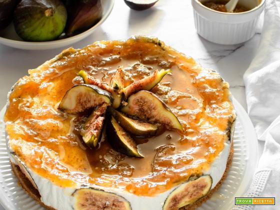 Cheesecake alla ricotta e fichi