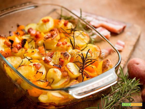 Patate rosse con pancetta, un piatto equilibrato