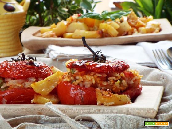 Pomodori ripieni di riso e gamberetti