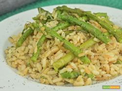 Risotto integrale agli asparagi
