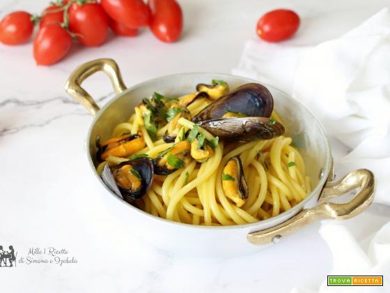 Spaghetti cozze e zafferano